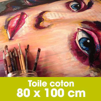 Portrait d'art Acrylique 80 x 100 cm