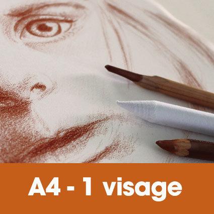 Portrait sanguine 24 x 32 cm (ou A4)* 1 visage