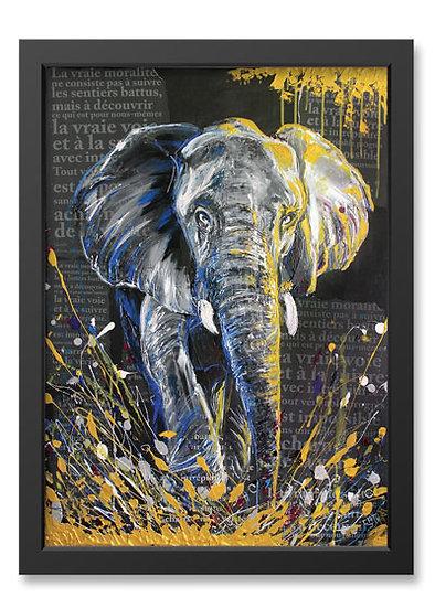 Affiche Éléphant #1