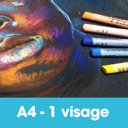 Portrait pastels secs 24 x 32 cm (ou A4)* 1 visage