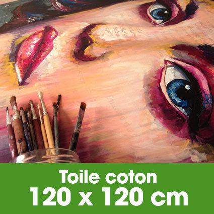 Portrait d'art Acrylique 120 x 120 cm