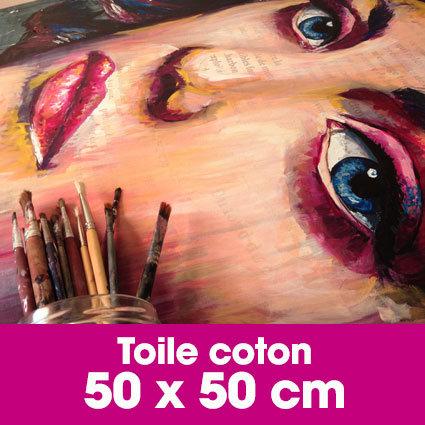 Portrait d'art Acrylique 50 x 50 cm