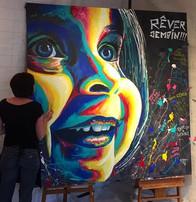Portrait d'Art à l'Acrylique