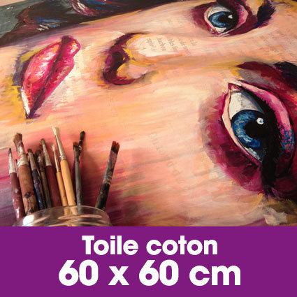 Portrait d'art Acrylique 60 x 60 cm