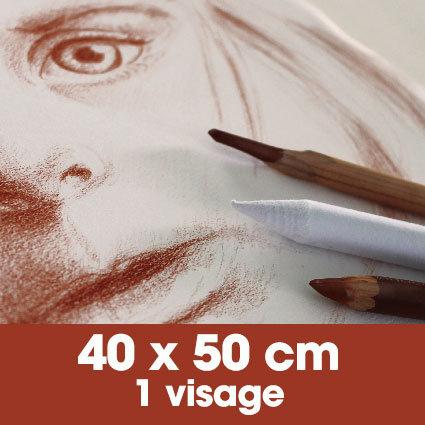 Portrait sanguine 40 x 50 cm - 1 visage