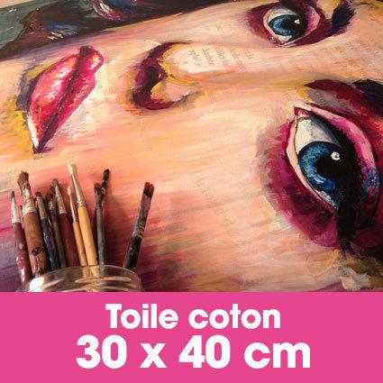 Portrait d'art Acrylique 30 x 40 cm