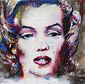 Vos portraits d'art d'après photo à la peinture acrylique sur toile