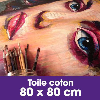Portrait d'art Acrylique 80 x 80 cm