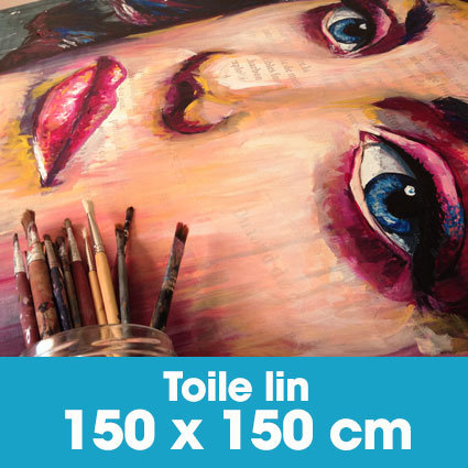 Portrait d'art Acrylique 150 x 150 cm