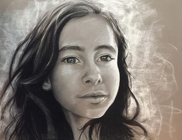 Portrait oiginal noir et blanc  - cadeau naissance