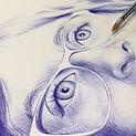 Portrait d'après phot au stylo bille pour un cadeau original