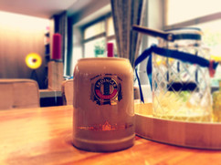 Bierkrug im Restaurant