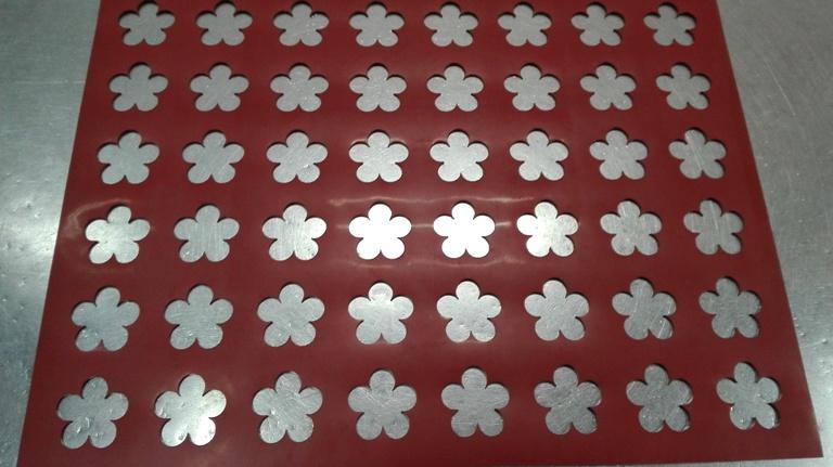 Chablón flor 5 pétalos