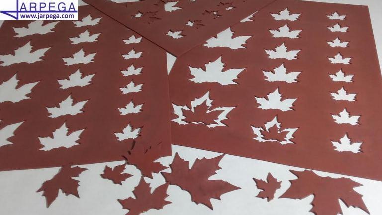 Chablón hoja otoño