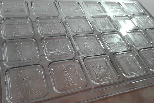 Molde tableta mini ciudades