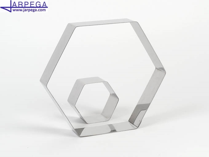 Aro forma hexágono en inox