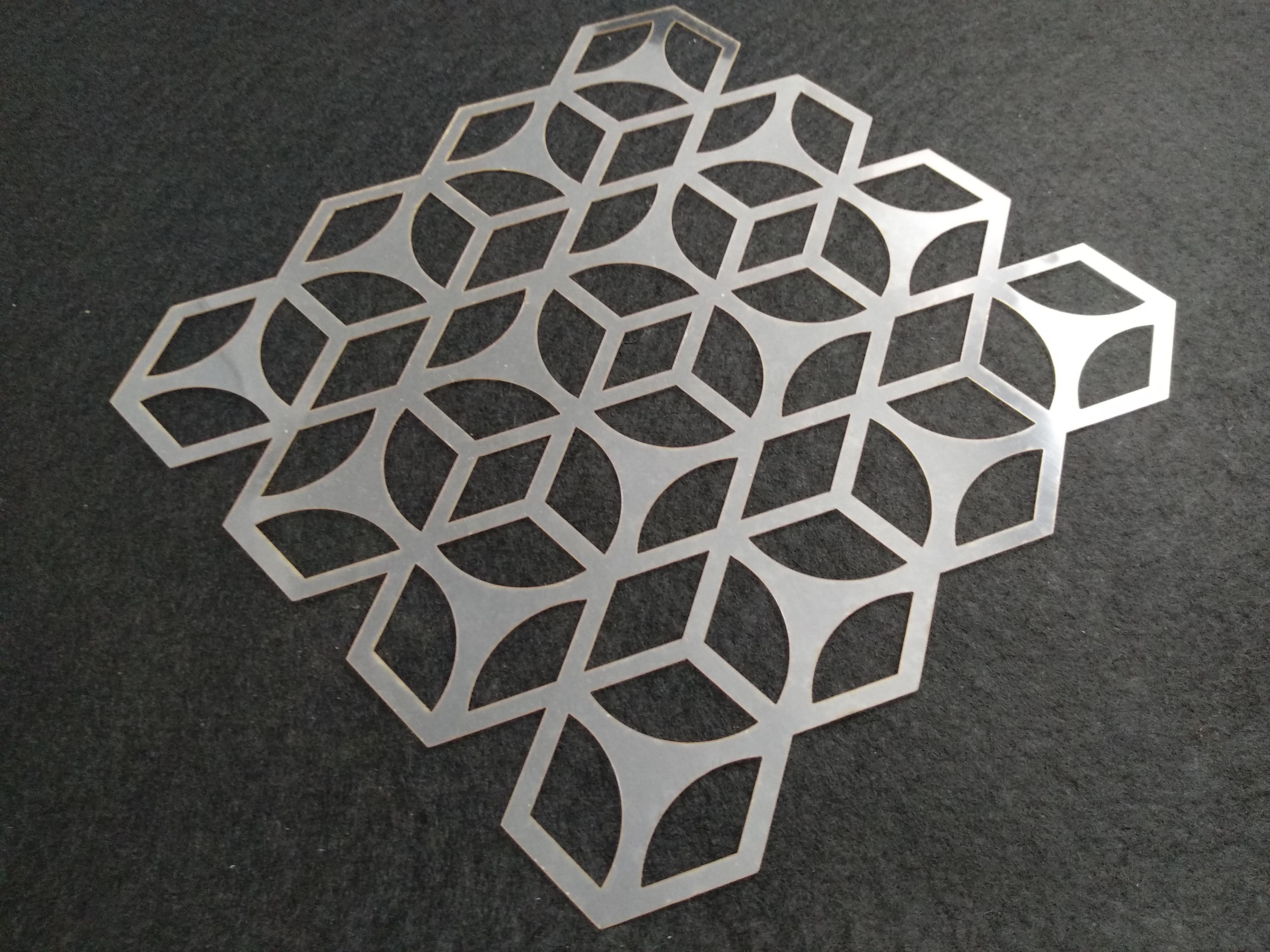 Molde deco acetato geométrico