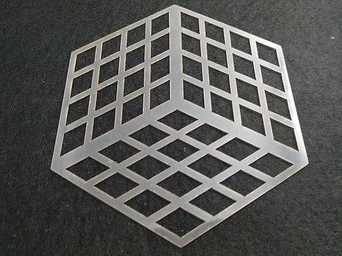 Molde deco acetato cubo 3D