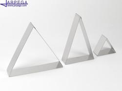 Aro forma triángulo en inox