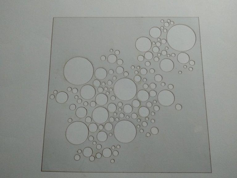 Molde deco acetato burbujas