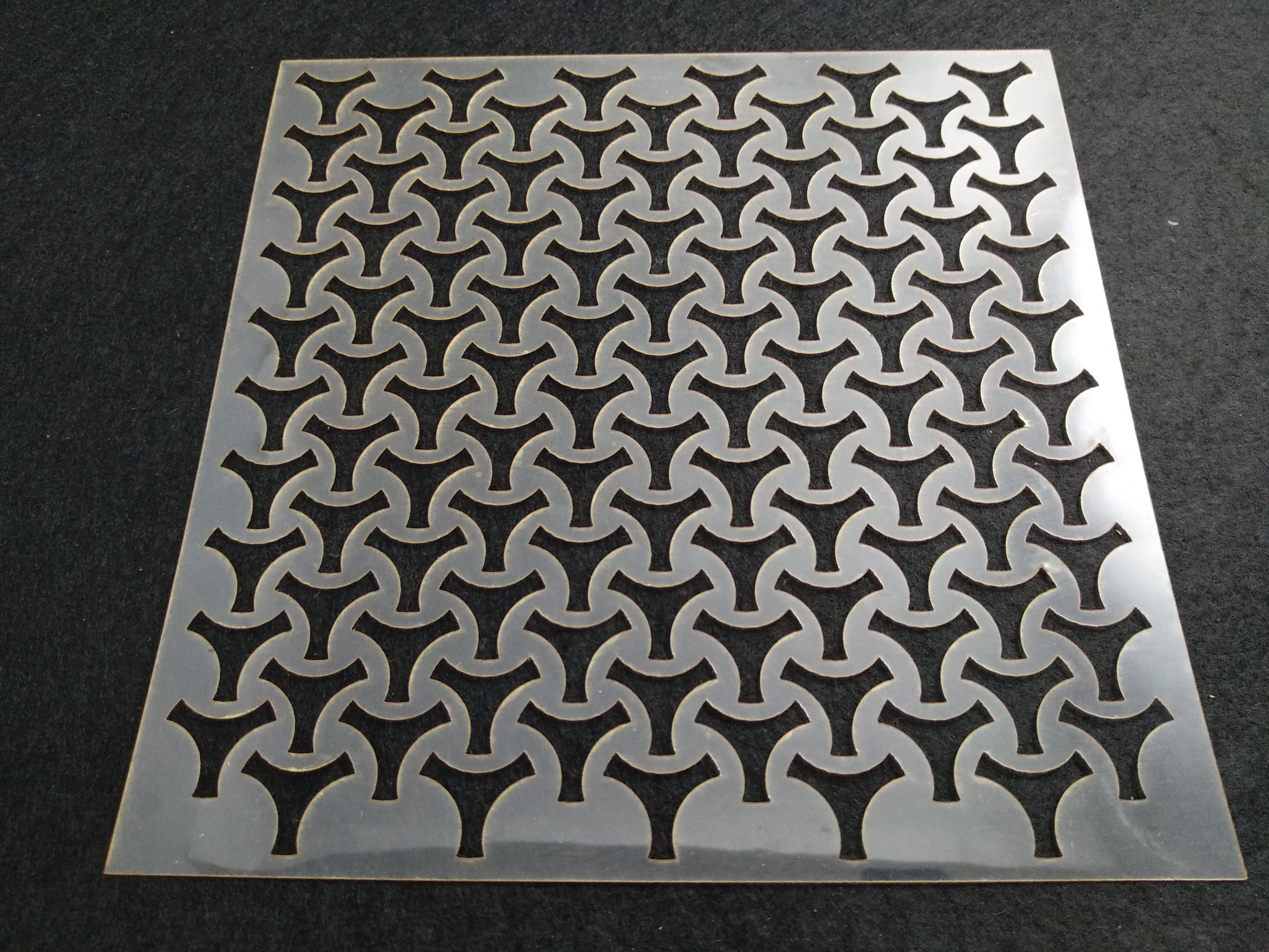 Molde deco acetato cuadrado modelo 2