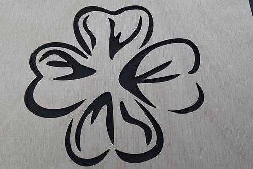 Stencil FLOR CORAZONES