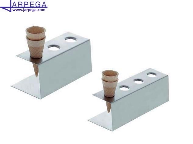Soportes conos de helado en inox