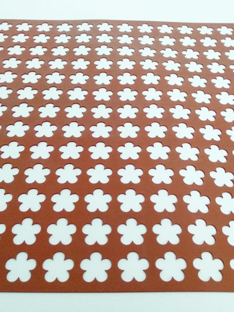 Tapete flores 5 pétalos