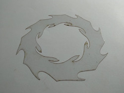 Molde deco acetato corona llamas