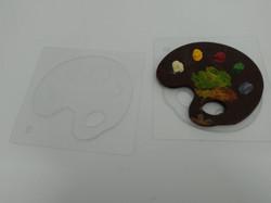 Tableta paleta de pintor