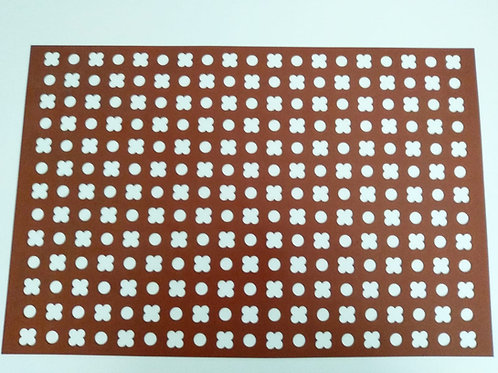 Tapete círculos - flores 4 pétalos