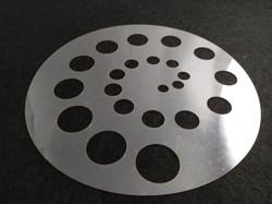 Molde deco acetato espiral círculos