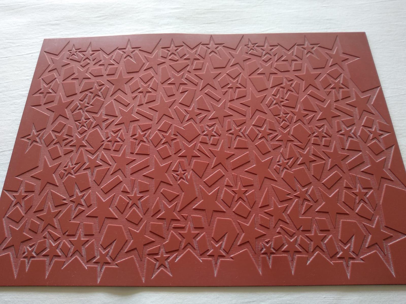 textura grabado estrellas