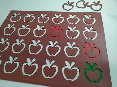 Xablón manzana silueta