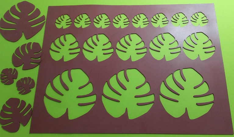Chablón hoja de palma tropical