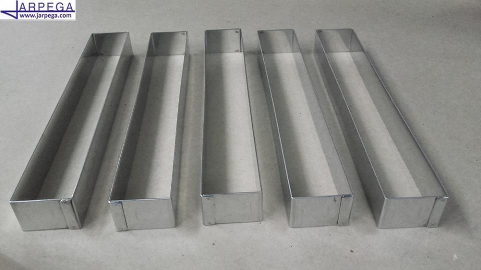 Molde forma rectangular en inox