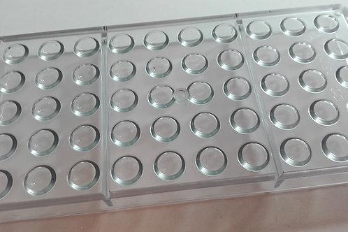 Semiesfera en policarbonato Ø 15 mm