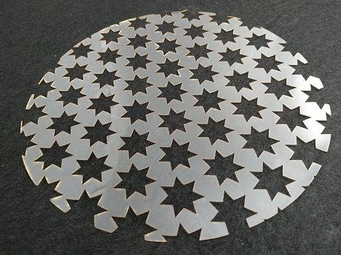 Molde deco acetato estrella 7 puntas