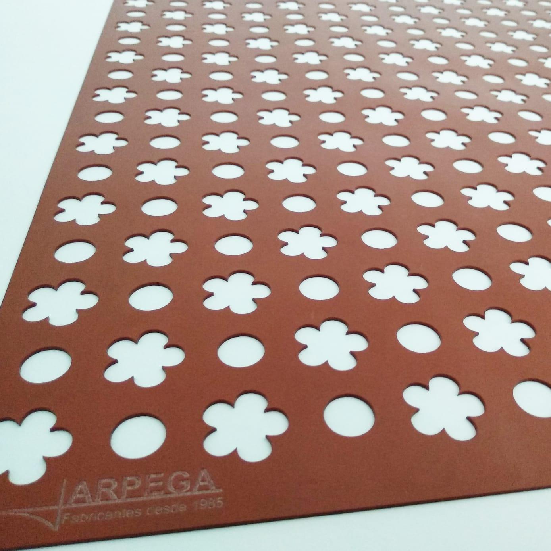 Tapete círculos - flores 5 pétalos