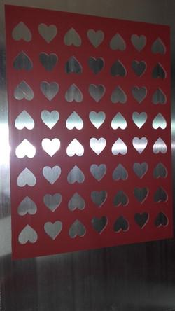 Chablón corazones de 3x3 cm
