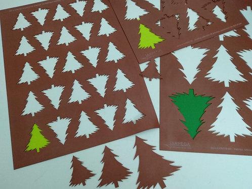 Xablón árbol navideño