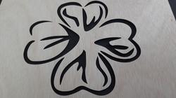 Stensil FLOR CORAZONES