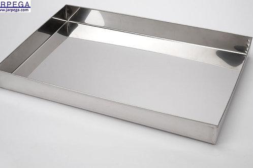 Candidera rectangular en inox