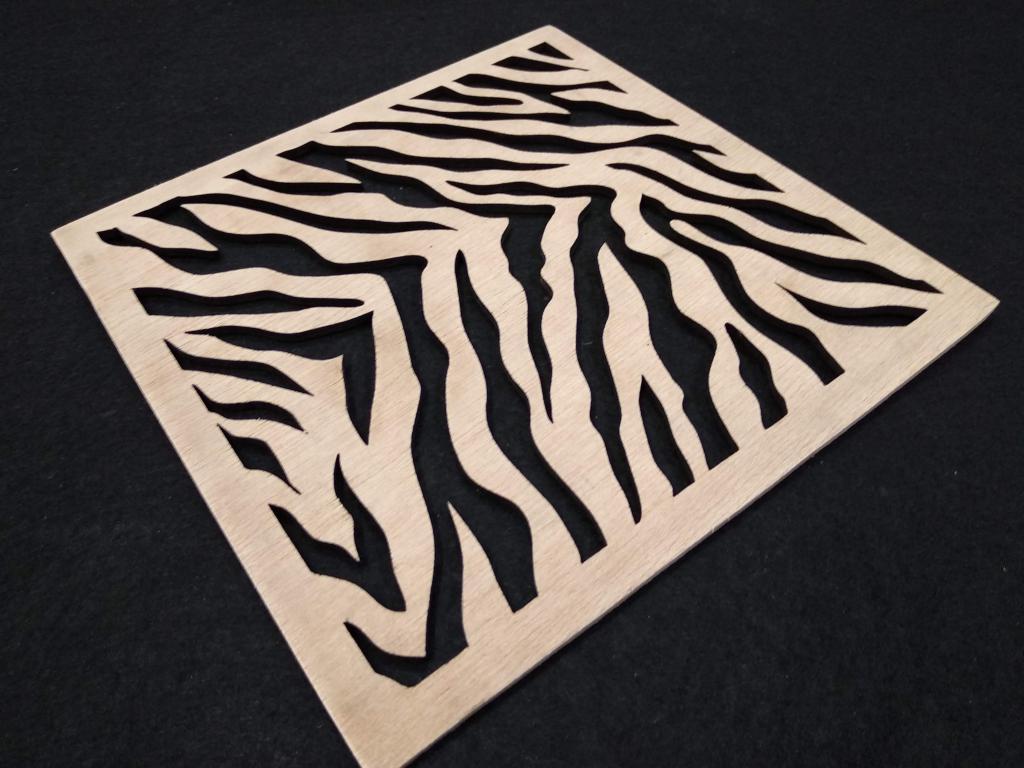 Stensil cebra