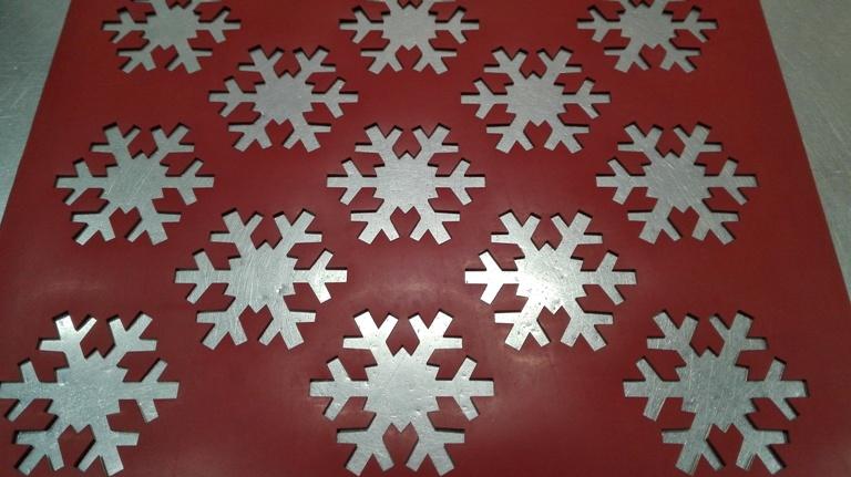 Chablón copo de nieve de 8 cm