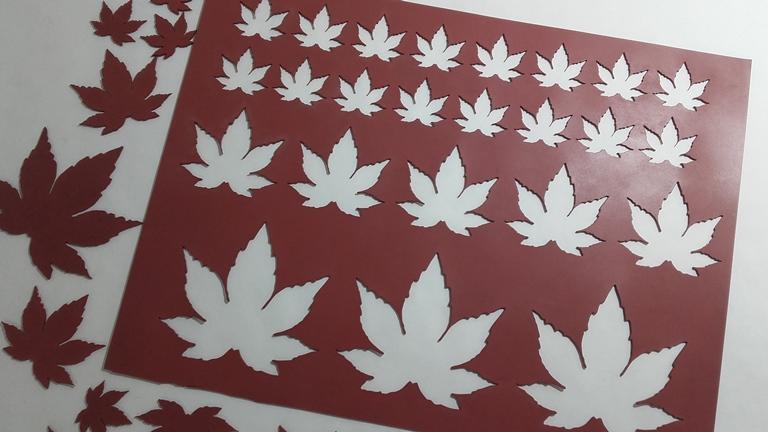 Chablón hojas de cannabis