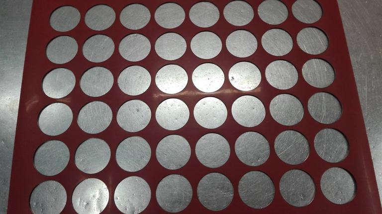 Chablón círculos de 4 cm