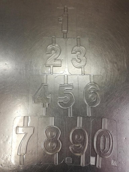 Velas forma números pequeños