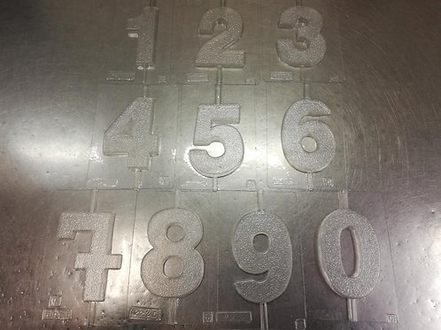 Velas forma números grandes