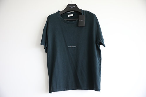 Saint Laurent Green Logo T-shirt